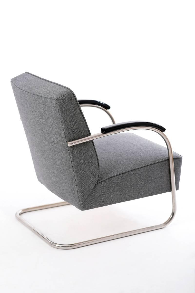 Czech Tubular Steel Chair from Mücke and Melder, 1930s at ...