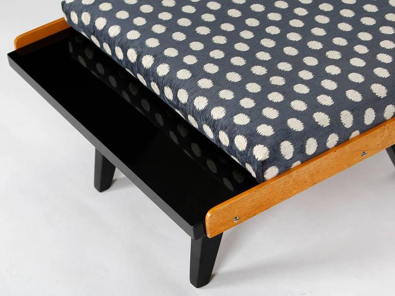 Fabric Coffee Table or Footstool from Tatra, 1960s For Sale