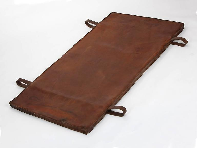 Restored Leather Czech Gymnastics Mat, 1940s 2