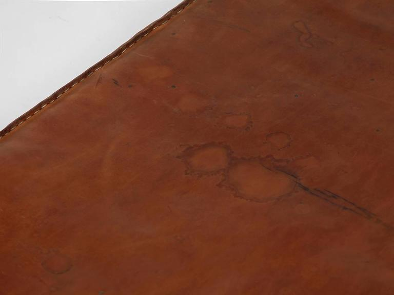 Vintage Leather Gymnastics Mat Nr.3, 1940s In Good Condition For Sale In Wien, AT