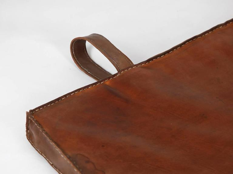 20th Century Vintage Leather Gymnastics Mat Nr.3, 1940s For Sale