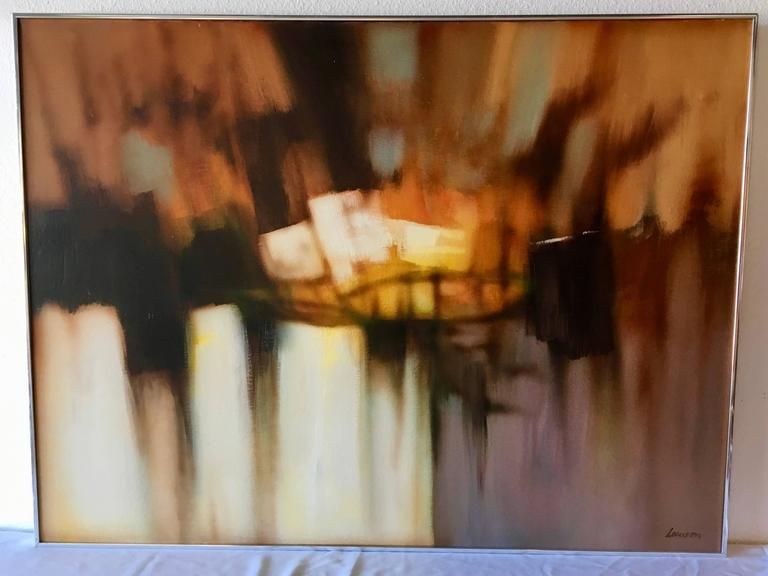 Mid-Century Modern Abstract Oil-on-Canvas Painting by Robert Lawson 2