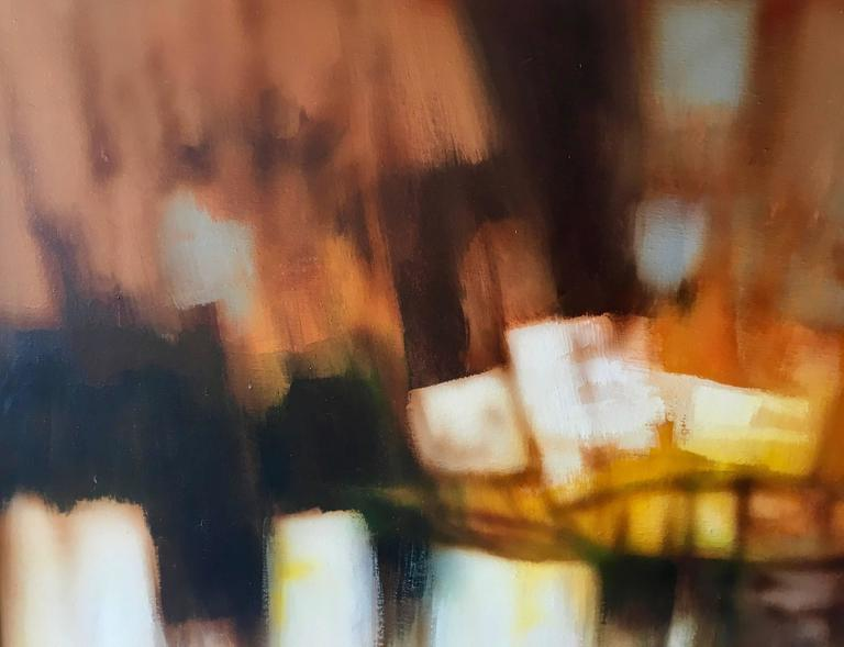 Mid-Century Modern Abstract Oil-on-Canvas Painting by Robert Lawson 4