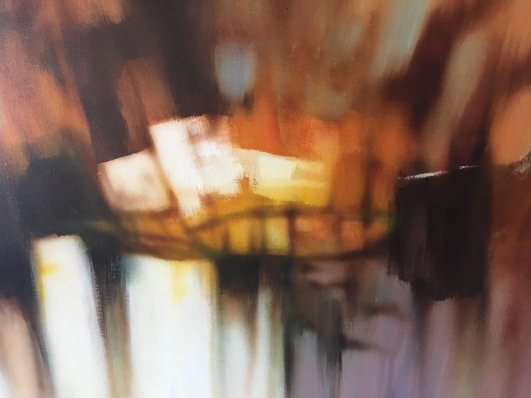 Mid-Century Modern Abstract Oil-on-Canvas Painting by Robert Lawson 6