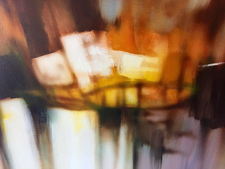 Mid-Century Modern Abstract Oil-on-Canvas Painting by Robert Lawson 7