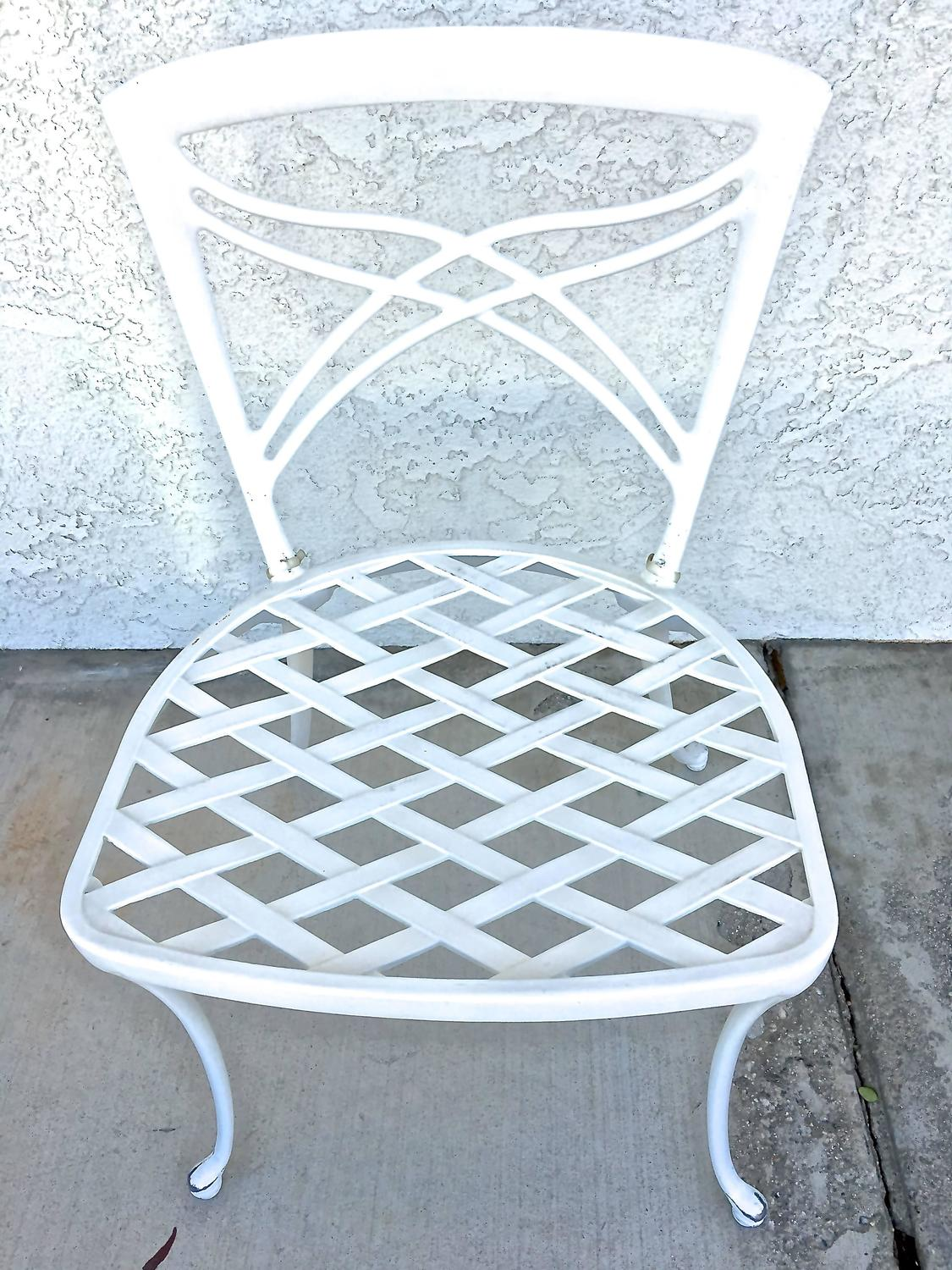Brown Jordan Patio Table and Chairs Five Piece Set at 1stdibs