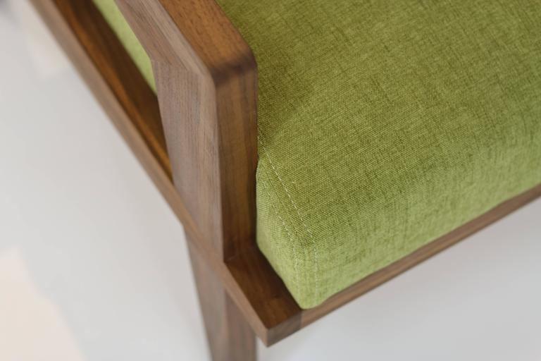 Modern Acorn Lounge Chair in Black Walnut For Sale