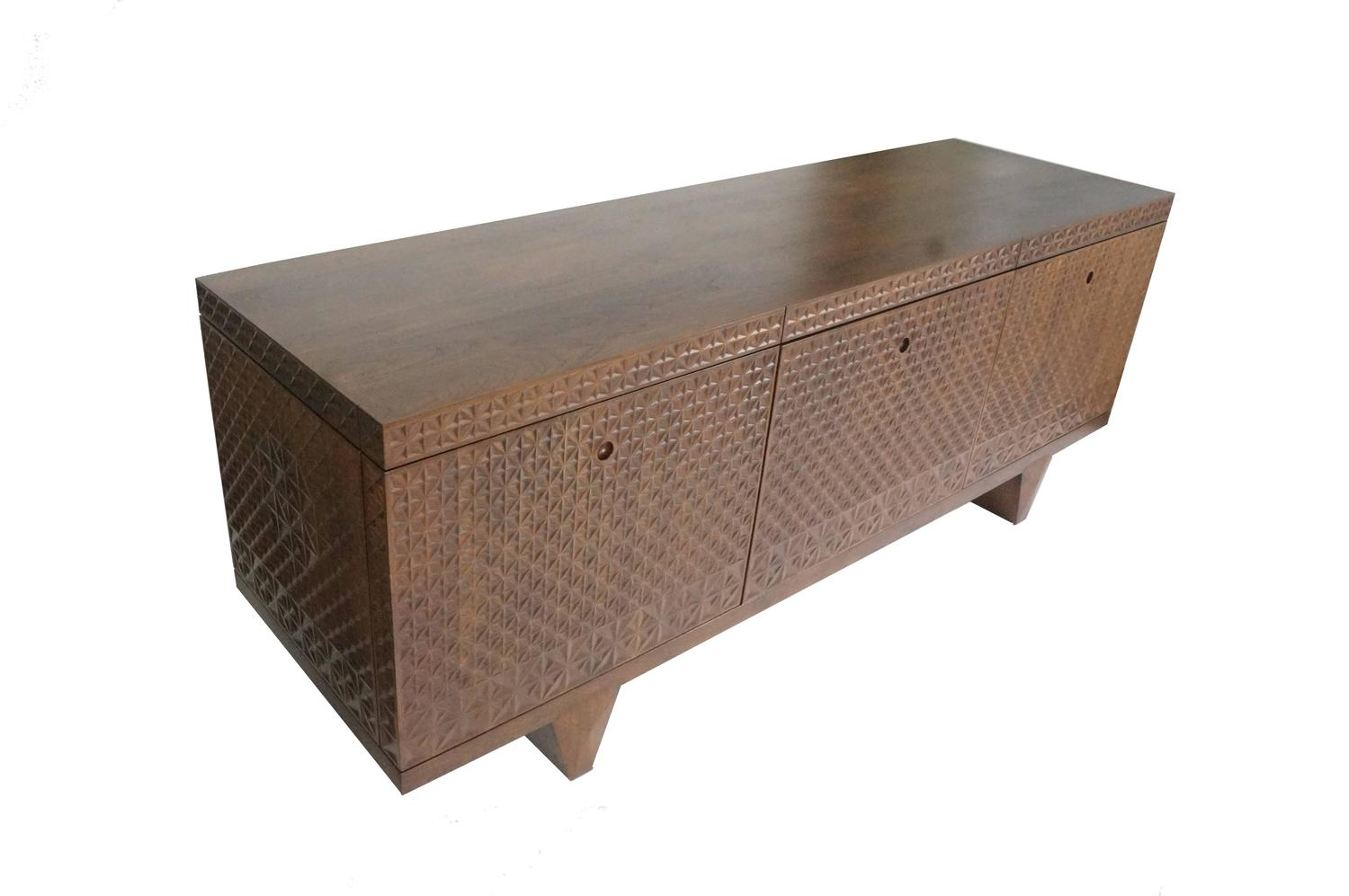 Zellij black walnut 3d textured sideboard for sale at 1stdibs for Sideboard 3d