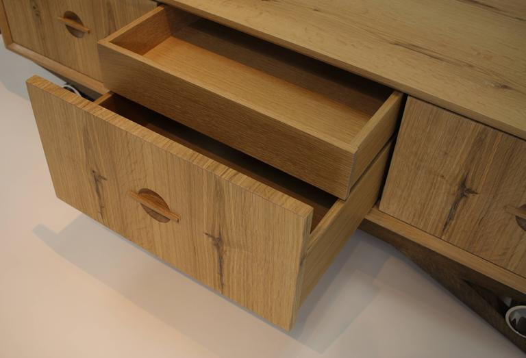 Baixa Sideboard In Rustic White Oak And Stainless Steel
