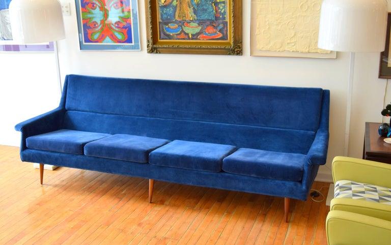 Early Milo Baughman Angular Sofa for Thayer Coggin For Sale 3