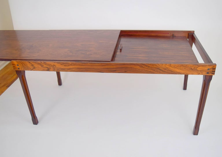 Italian Ico Parisi Rosewood Expanding Dining Table for MIM For Sale