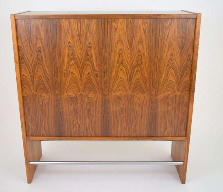 Danish Rosewood Dry Bar by Erik Buch For Sale