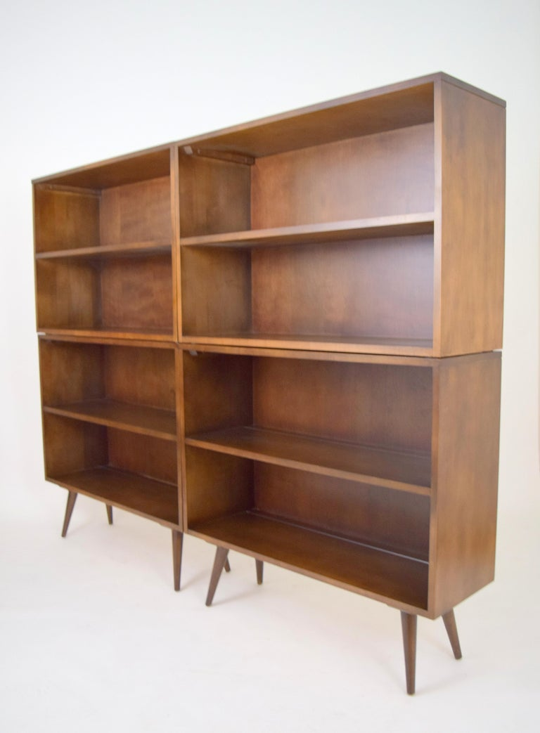 Mid-Century Modern Paul McCobb Planner Group Modular Bookcases For Sale