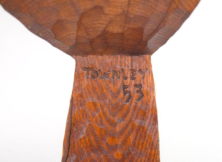 Early Hugh Townley Bulbous Wooden Sculpture, 1953 For Sale 1
