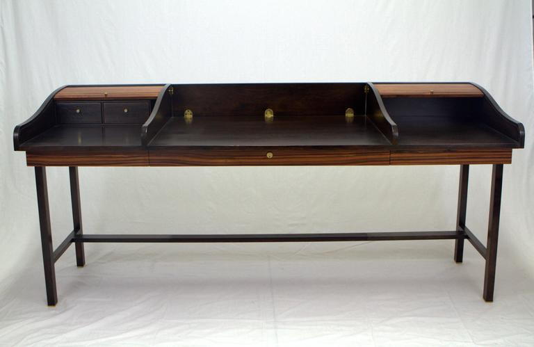 Edward Wormley Executive Rosewood Roll Top Partners Desk