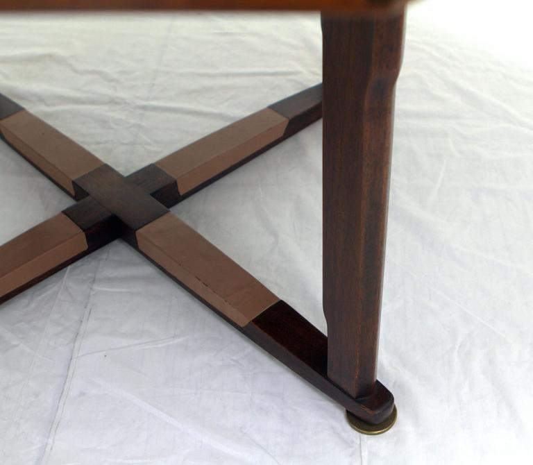 Leather Edward Wormley Janus Game Table For Sale