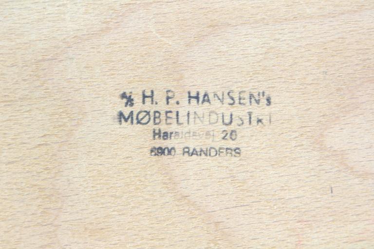 Arne Vodder Bowfront Teak Credenza for H.P. Hansen For Sale 3