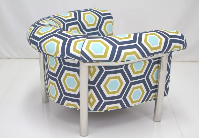 American Milo Baughman Style Lounge Chair For Sale
