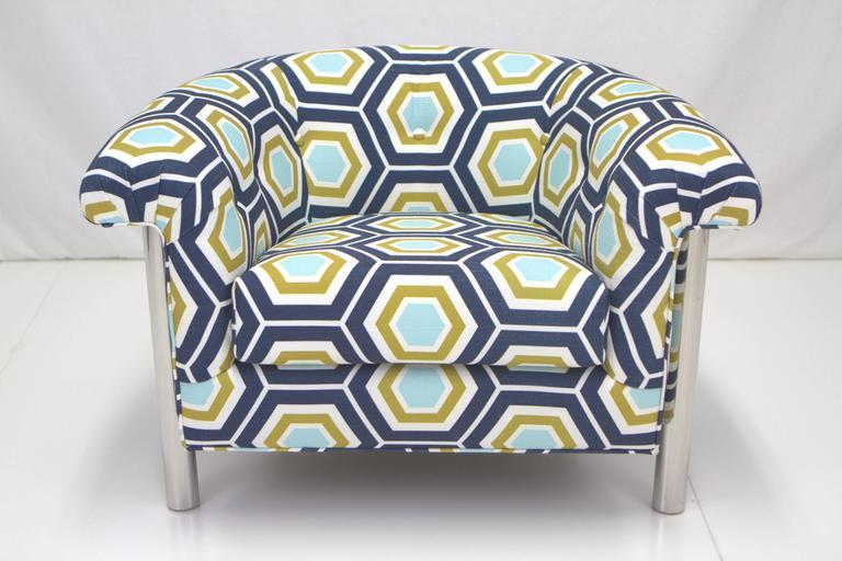 Mid-Century Modern Milo Baughman Style Lounge Chair For Sale
