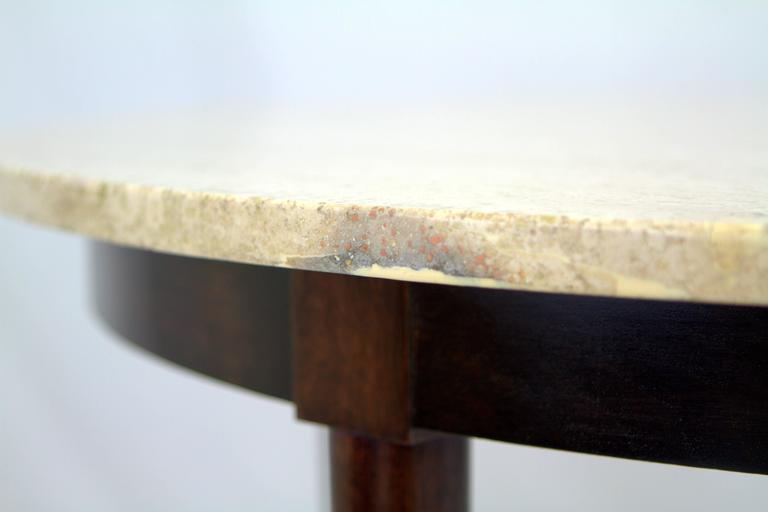 Mid-Century Italian Travertine Marble Table in the Style of Gio Ponti For Sale 2