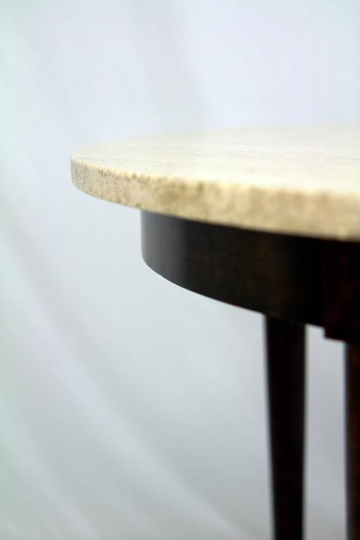 Mid-Century Italian Travertine Marble Table in the Style of Gio Ponti For Sale 1