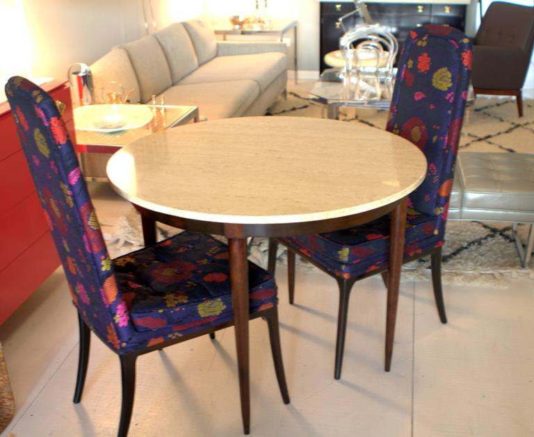 Mid-Century Italian Travertine Marble Table in the Style of Gio Ponti For Sale 4