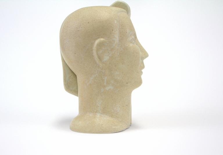 Late 20th Century Peter Wright Interlocking Male, Female Busts Sculpture For Sale