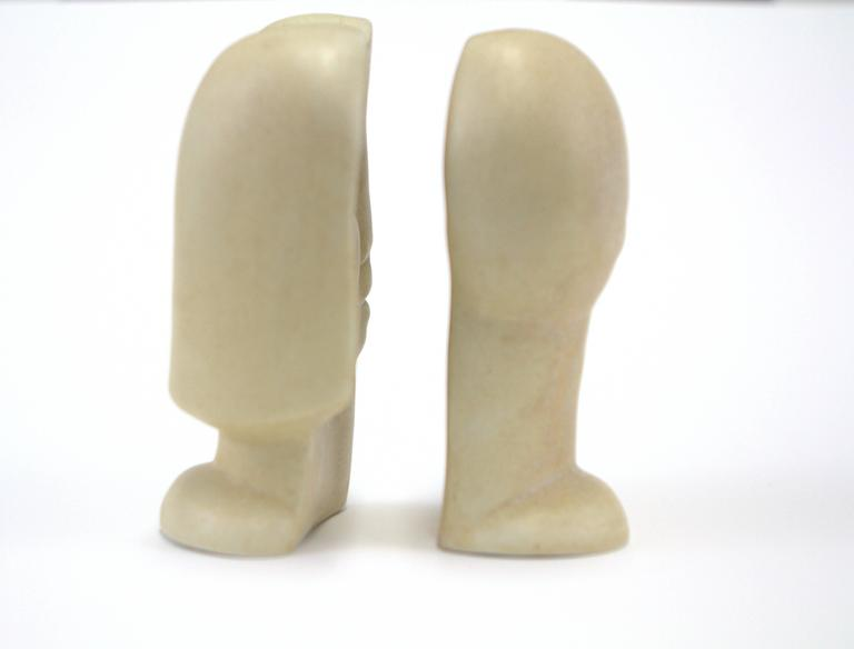 Peter Wright Interlocking Male, Female Busts Sculpture In Excellent Condition For Sale In Chicago, IL