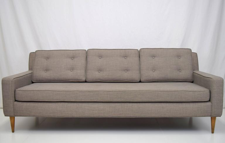 Mid-Century Button Tufted Sofa in Paul McCobb Style 2