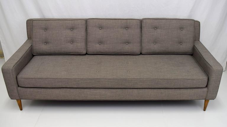 American Mid-Century Button Tufted Sofa in Paul McCobb Style For Sale