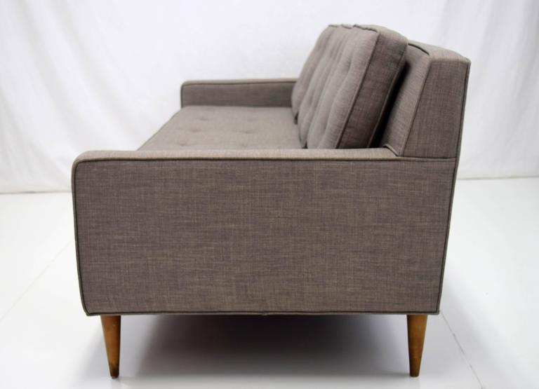 Mid-Century Modern Mid-Century Button Tufted Sofa in Paul McCobb Style For Sale