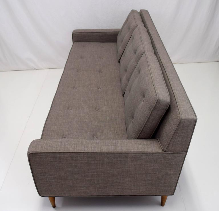 Mid-Century Button Tufted Sofa in Paul McCobb Style 5