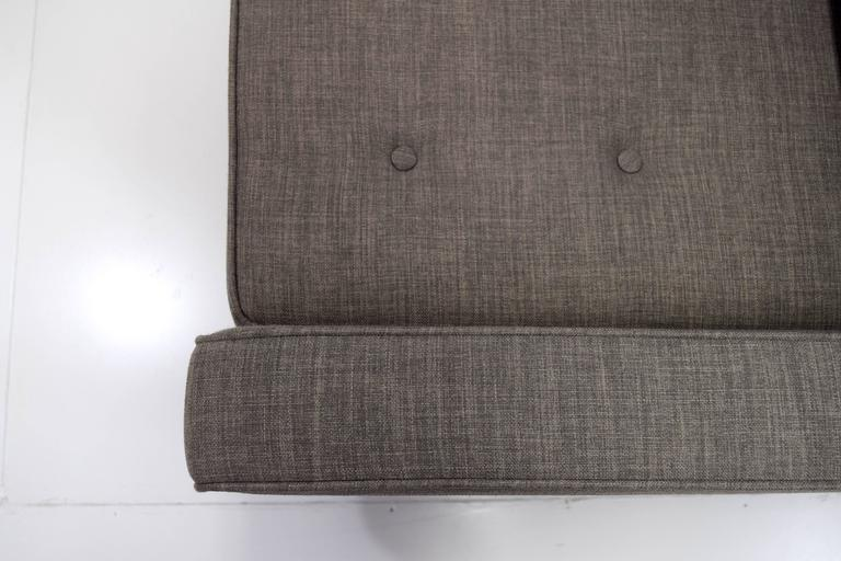 Fabric Mid-Century Button Tufted Sofa in Paul McCobb Style For Sale