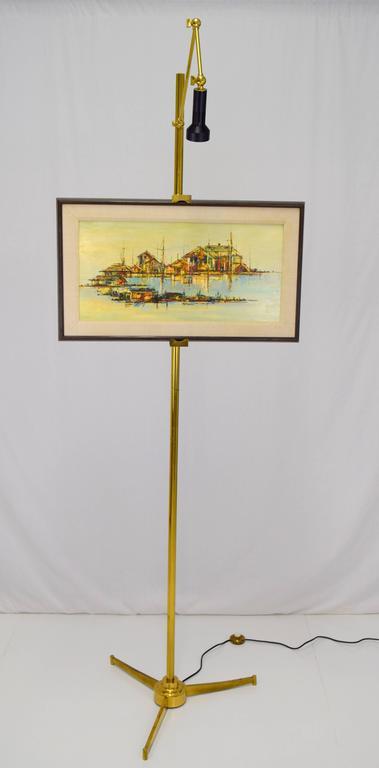 Italian Brass Easel Floor Lamp in the Style of Angelo Lelli for ...