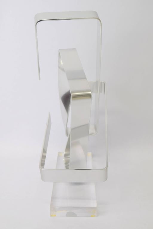 Dan Murphy Aluminum Ribbon Sculpture, 1977 In Excellent Condition For Sale In Chicago, IL