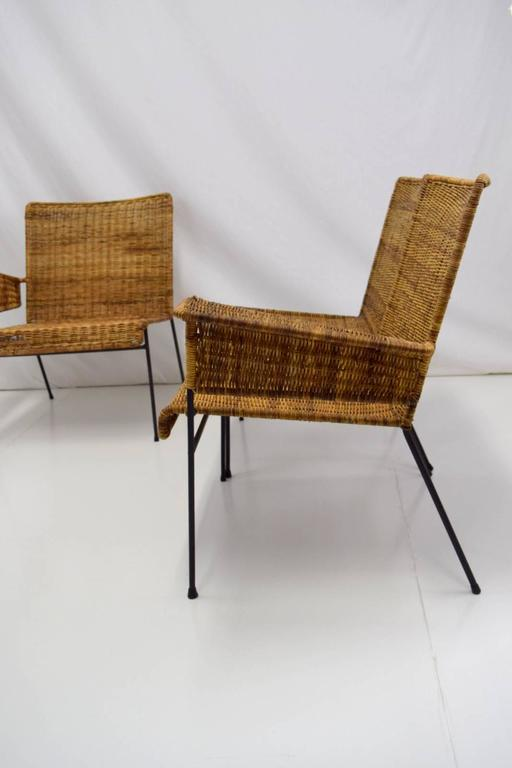 Van Keppel-Green Three-Piece Modular Iron and Wicker Set In Good Condition For Sale In Chicago, IL
