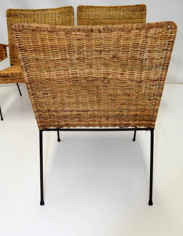 Mid-20th Century Van Keppel-Green Three-Piece Modular Iron and Wicker Set For Sale