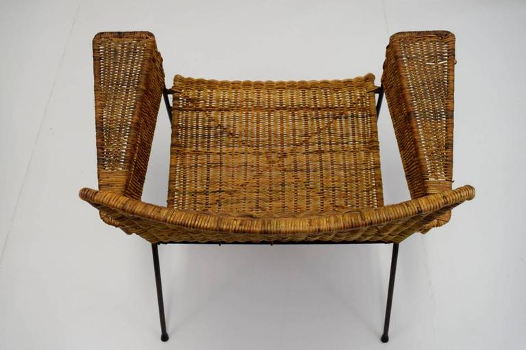 Van Keppel-Green Iron and Wicker Lounge Chair For Sale 2