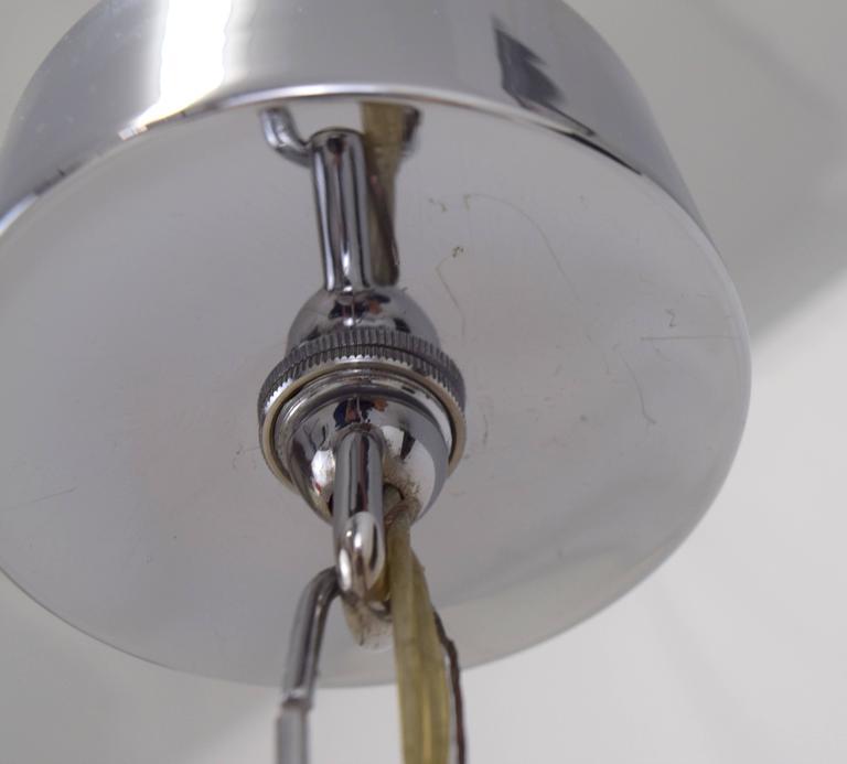 Gaetano Sciolari Chrome and Brass Chevron Chandelier  8