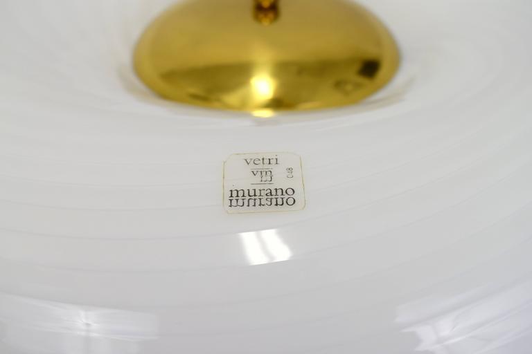 Vetri Murano Swirl Glass Mushroom Lamps, Pair 6