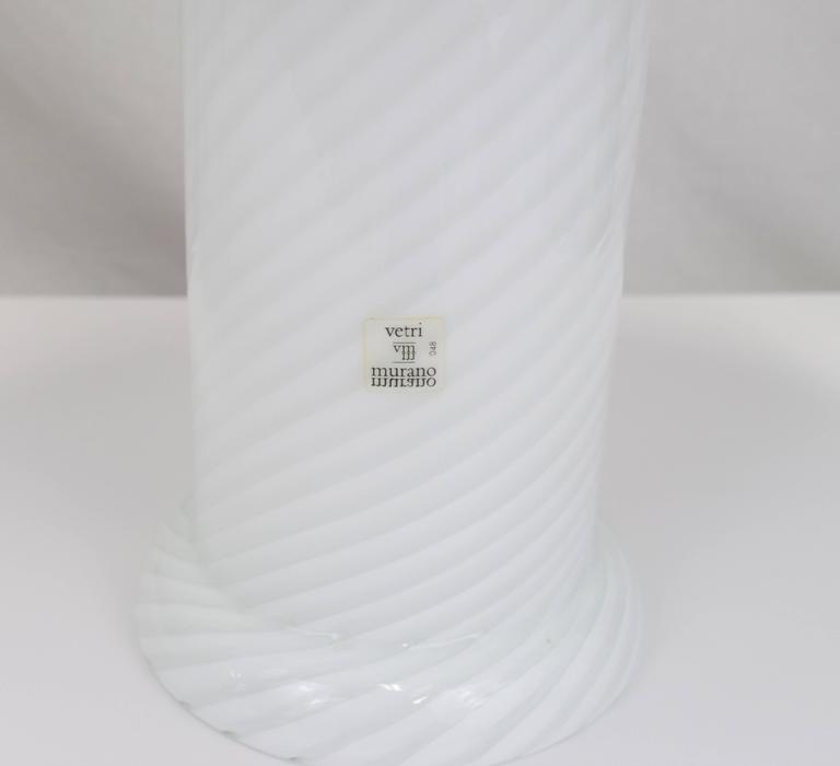 Vetri Murano Swirl Glass Mushroom Lamps, Pair 7