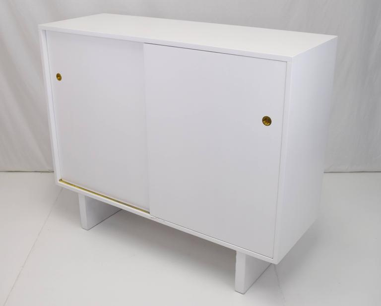 American White Lacquered Wardrobe Cabinet by James Wylie for Widdicomb   For Sale