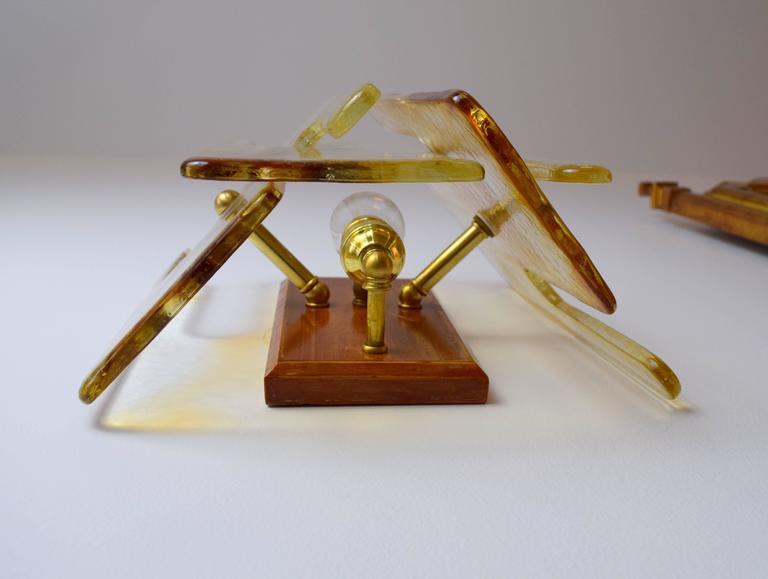 Murano Interlocking Glass Sconces by Mazzega In Excellent Condition For Sale In Chicago, IL