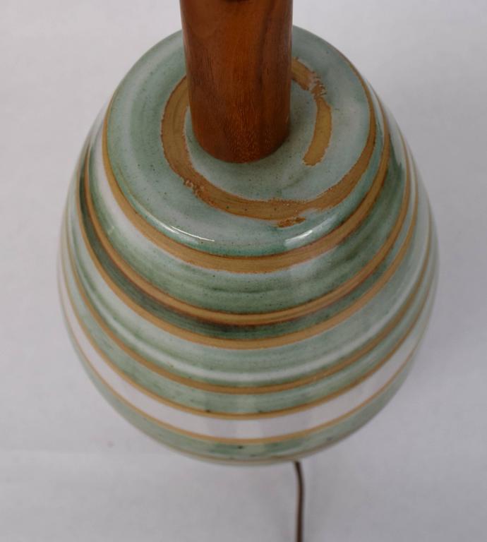 Mid-Century Modern Gordon Martz for Marshall Studios Swirled Glaze Lamp For Sale