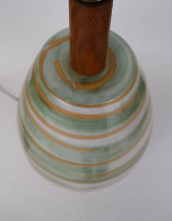 American Gordon Martz for Marshall Studios Swirled Glaze Lamp For Sale