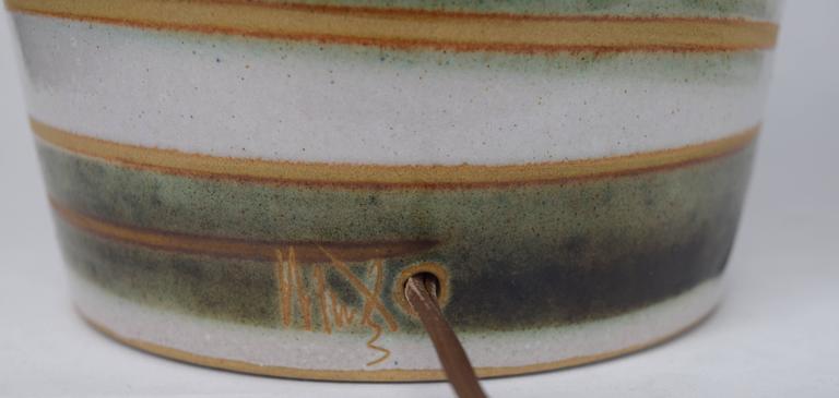 Mid-20th Century Gordon Martz for Marshall Studios Swirled Glaze Lamp For Sale