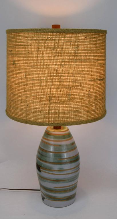 Ceramic Gordon Martz for Marshall Studios Swirled Glaze Lamp For Sale