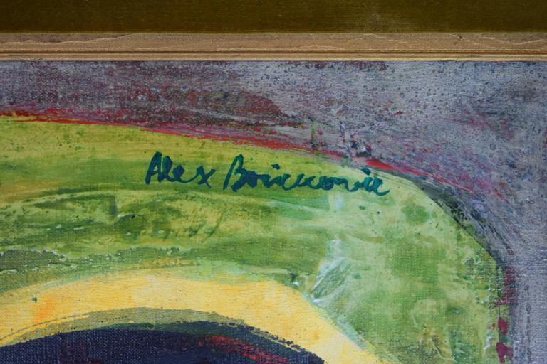 Bosnian Aleksander Bozickovic, BOZ Abstract Figurative Oil Composition For Sale