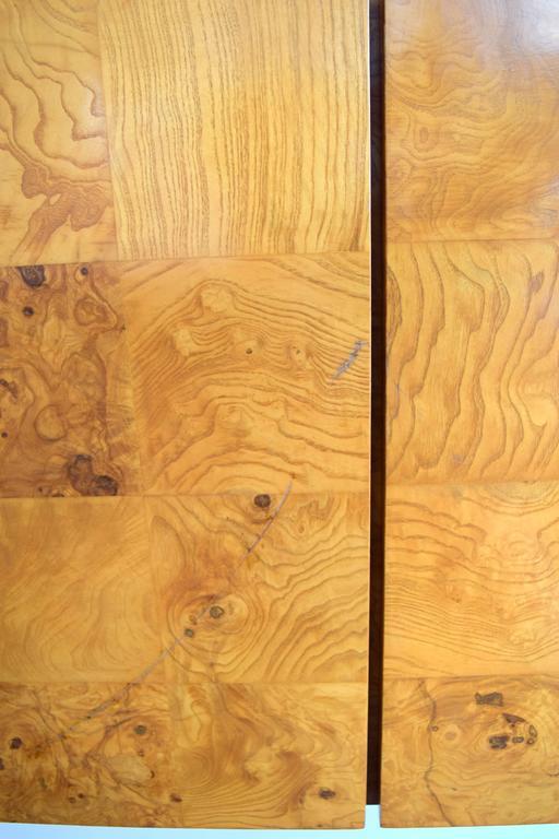 Milo Baughman Wall-Mounted Burl Wood Cabinet For Sale 3