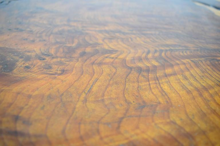 Organic Walnut Slab Free-Form Coffee Table 9